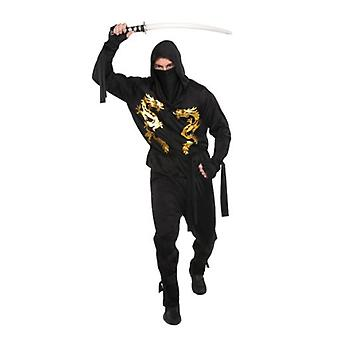 Amscan Costume Black Dragon Ninja for Adult (Babies and Children , Costumes)