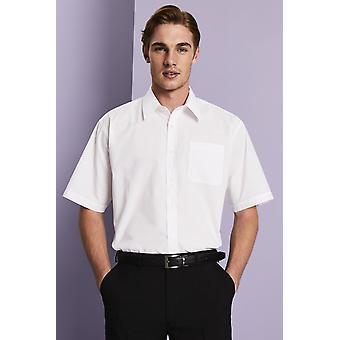 Simon Jersey Men's White Short Sleeve Classic Collar Shirt