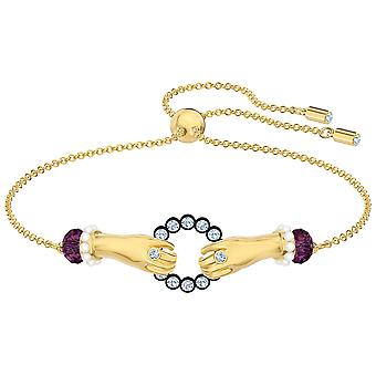 Swarovski Tarot magisk armbånd-flerfarget-gull-tone belagt