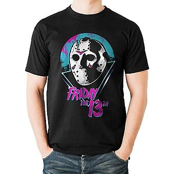 Friday The 13th Adults Unisex Eighties Mask Design T-Shirt