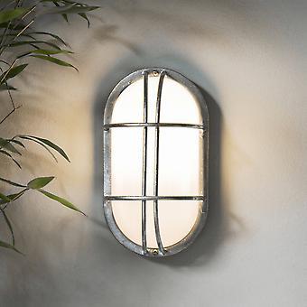 Giardino Trading St Ives Bulk testa parete esterna luce - zincato