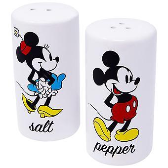 Mickey e Minnie bianco di sale e pepe Shaker Set