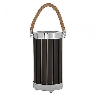 Premier Home Brooke Black Wood / Metal Table Lamp, Wood, Hemp Rope, Black