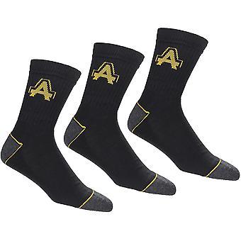 Amblers Pánske kontrastné rebrovaný pracovný odev ponožky (balenie 3)