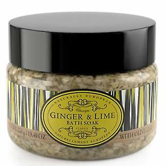 Ginger and Lime Naturally European Bath Salts Large 550g Tub
