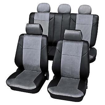 Copertine di sedili per auto di lusso grigio scuro per Volkswagen POLO van 1994-1999