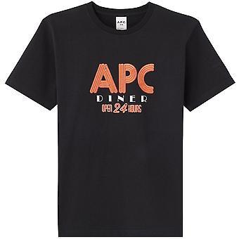 A.p.c A.P.C العشاء جرافيك طباعة تي شيرت