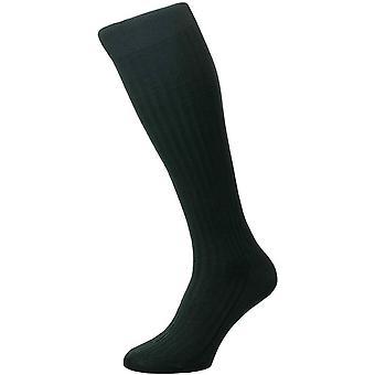 Pantherella Danvers algodão Lisle sobre as meias bezerro-verde escuro