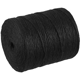 280m Black 4 Ply Jute Thread for Macrame Crafts