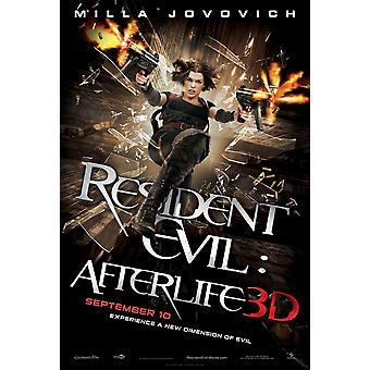 Resident Evil: Afterlife Poster (Milla Jovovich) Double Sided Regular (Uv Coated/High Gloss) (2010) Original Cinema Poster