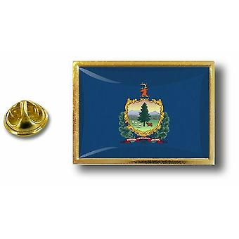 Pins Pin Badge Pin's Metal  Avec Pince Papillon Drapeau Etats USA Vermont