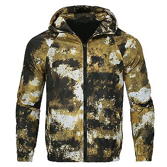 Allthemen Men's Camouflage Printed Hooded Sport Casual Jacket