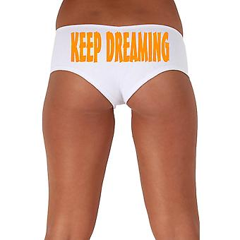 Women's Orange Keep Dreaming 2 Booty Shorts