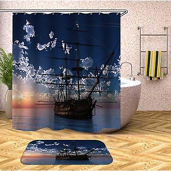 Sailing Ship On The Open Sea Shower Curtain