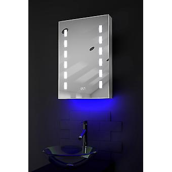 Ambient Audio LED Bathroom Cabinet with Sensor & Shaver k385waud