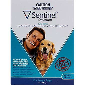 Sentinel Spectrum Dogs 50-100lbs (22-45kg) - 3 Chewables