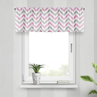 Meesoz Valance - Trendy Zigzags Pink II