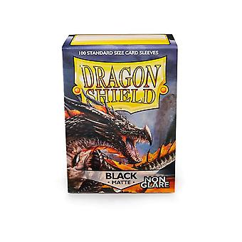 Dragon Shield Matte Black Non Glare 100 Sleeves (Pack of 10)