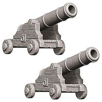 WizKids Deep Cuts Unpainted Miniatures Cannons (Pack of 6)