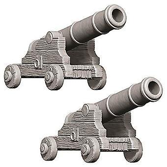 WizKids Deep Cuts Unpainted Miniatures Cannons (Pack of 6)