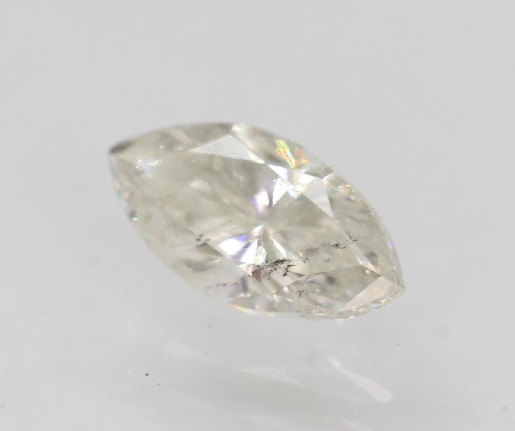 Certified 0.51 Carat G SI1 Marquise Enhanced Natural Loose Diamond 7.17x3.7m 2VG