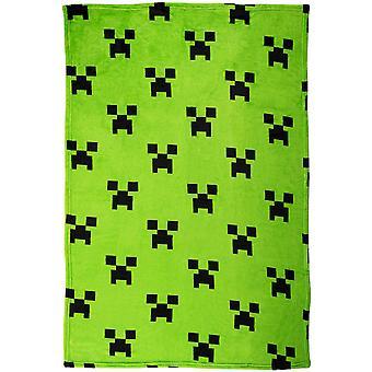 Minecraft Emerald Blanket Fleece Blanket 100x150cm