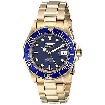 Invicta Pro Diver 200M Gold Tone Blue Dial 8930 Men-apos;s Watch