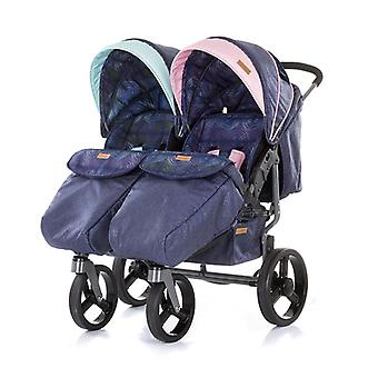 Chipolino sibling stroller Twix, collapsible, sunroof, from birth