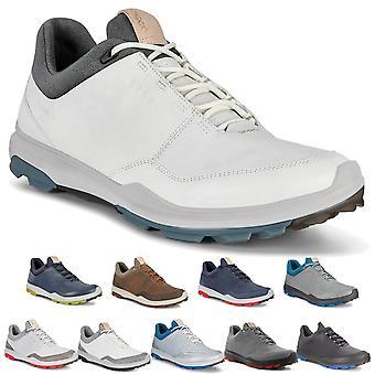Ecco Mens 2020 Biom Hybrid 3 Gore-Tex Cuir Chaussures de golf imperméables