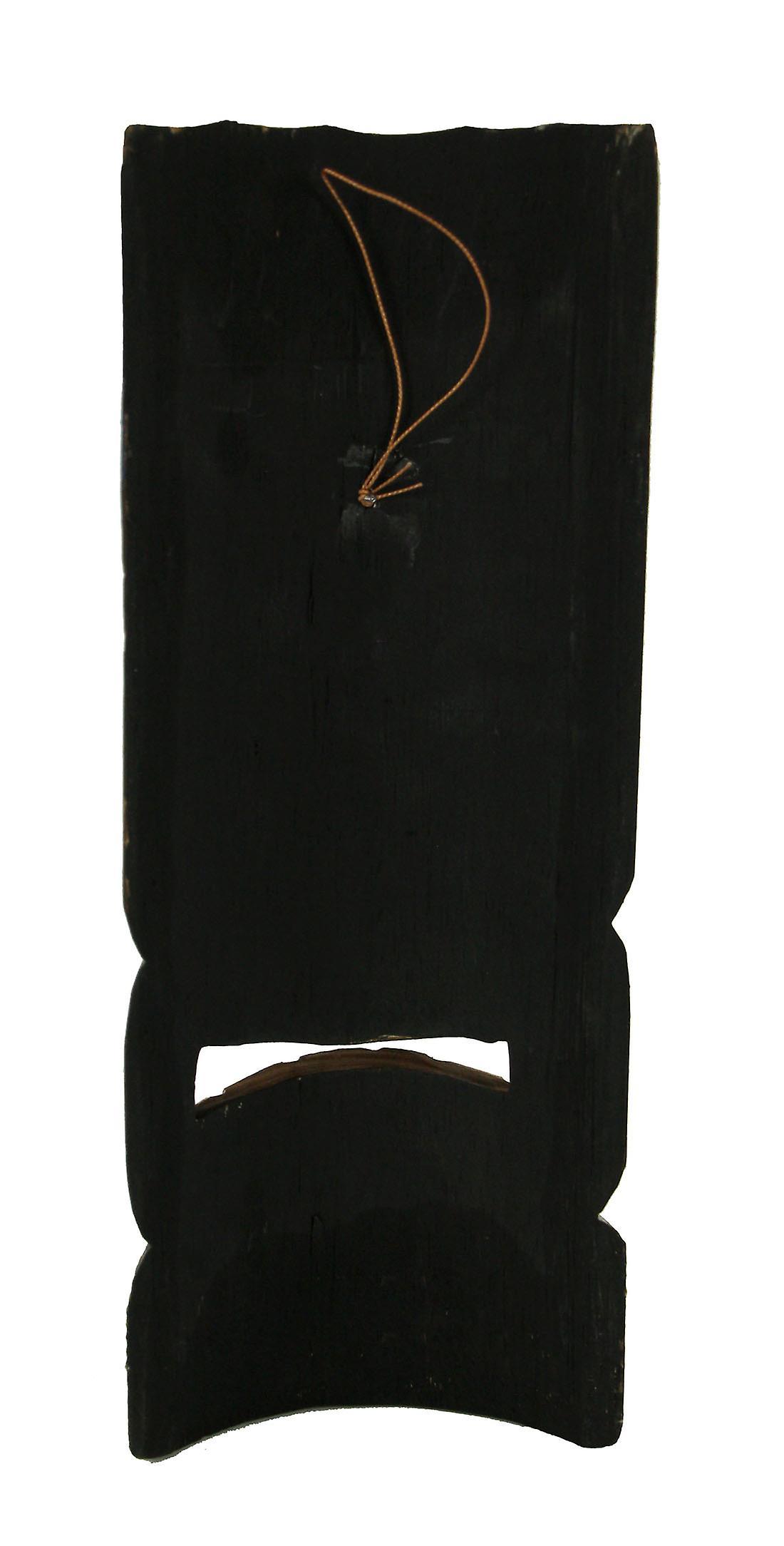 Set of 5 Wood Tropical Tribal Hawaiian Tiki Masks Beach Bar Luau 12 inch Tall