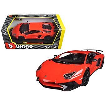Lamborghini Aventador LP750-4 Red 1/24 Diecast Model Car par Bburago