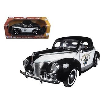 1940 Ford Coupé Deluxe California Highway Patrol CHP 'Timeless Classics' 1/18 Diecast Model Car par Motormax