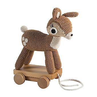 Sebra - pull-along toy - crochet - deer