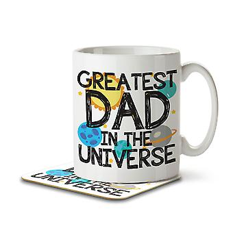 Greatest Dad in the Universe - Mug and Coaster