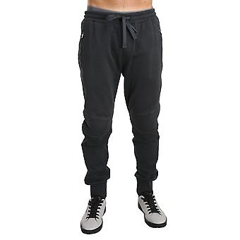 Dolce & Gabbana Gray Cotton Gym Sport Casual Trousers