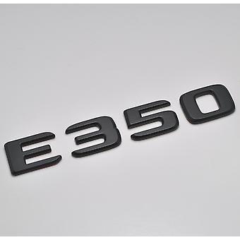 Matt Black E350 Flat Mercedes Benz Car Model Rear Boot Number Letter Sticker Decal Badge Emblem For E Class W210 W211 W212 C207/A207 W213 AMG