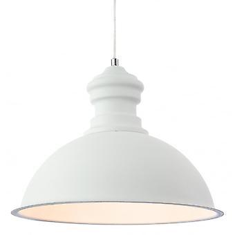 Firstlight Herculean Modern White Rough Sand Dome Shade Ceiling Pendant Light Fitting
