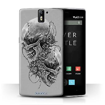 STUFF4 Case/Cover for OnePlus One/Roses/Skull Art Sketch
