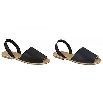 Leather Collection Womens/Ladies  Slingback Mule Sandals