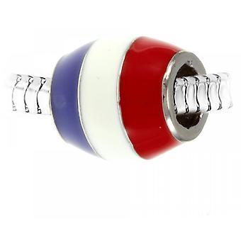 Charm perle drapeau Fran�ais par SC Crystal Paris�  BEA0167