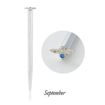 Olivia Burton Watches Obacs37 Celebration Bee Pen Sapphire & Silver September