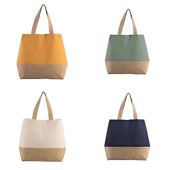 Kimood Canvas And Jute Shopper Bag