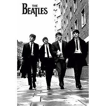 Pôster dos Beatles em Londres