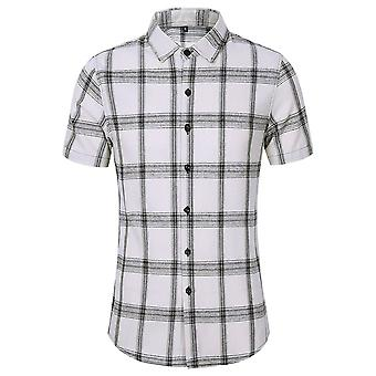 Allthemen Men's Plaid Printed T-shirts Casual Checked Tops