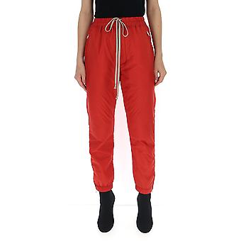 Rick Owens Rp19f5313nz133 Women's Red Nylon Joggers