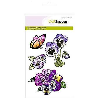 CraftEmotions Clear Stamps A6 - violettes 1 Violettes Douces