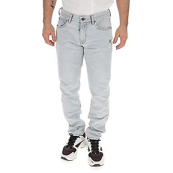 Off-white Omya011s203860247144 Men's Light Blue Cotton Jeans