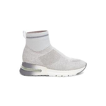 Ash Kylelurex003 Kvinnor's grå tyg Hi Top Sneakers