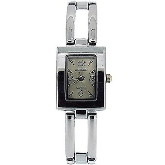 Het Olivia collectie dames rechthoek Silver Dial armband Strap Watch COS41
