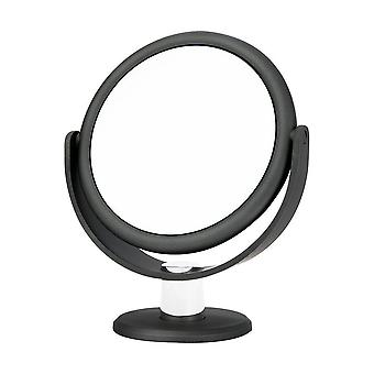 Danielle Creations Metallic Soft Touch Vanity Mirror x10 magnifying - Charcoal Grey